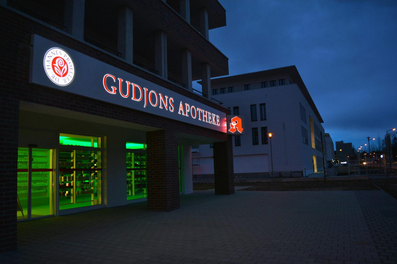 Alutransparent mit LED Beleuchtung